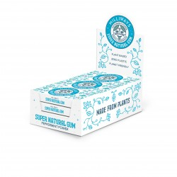 Super Natural Gum - Peppermint Power Chewing Gum 12 Packs of 10 Pieces (120 Pieces Total)