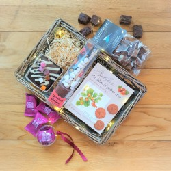 Chocolate Mini Gift Basket with optional LED Lights