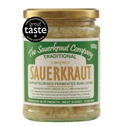 Traditional Unpasteurised Sauerkraut | Teeming with Friendly Bacteria (500g)