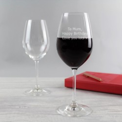 Special Message Crystal Wine Glass