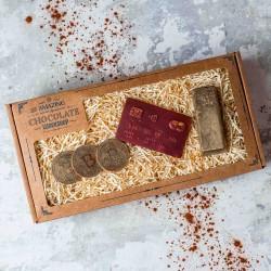 Chocolate Bitcoin, Credit Card And Gold Bar Gift Box