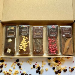 Mini Slab 5 flavour Chocolate Variety Pack | 200g dairy free Vegan Cocoa libre