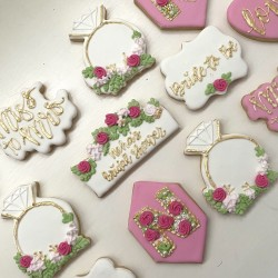 Personalised Bridal Shower Favour Cookies (Set of 12)
