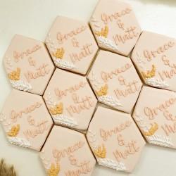 Personalised Boho Wedding Favour Cookies