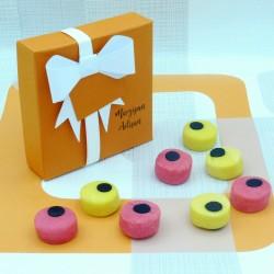 Handmade Marzipan Allsort Sweets Round Allsorts