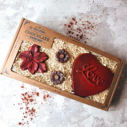 Personalised Anniversary Love Heart And Flowers Gift