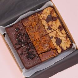 Vegan Mixed Biscuit Brownie Box