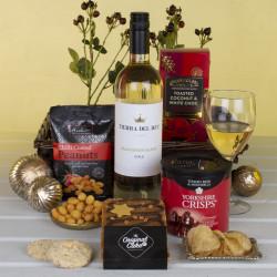 White Wine Treats Tray Gift Hamper