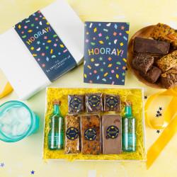 'Hooray!' Gin and Treats Gift Box