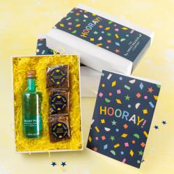 'Hooray!' Brownies & Gin Gift