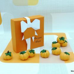 Handmade Marzipan Pumpkins