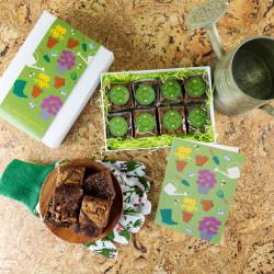 'Gardening' Gluten Free Luxury Brownie Gift