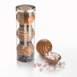 Orange Hot Chocolate Bombes