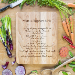 Favourite Recipe Personalised Chopping Board