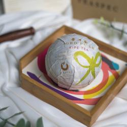 Frenchie Ripe Pu'er Tea Tuo Set (includes 100g Pu'er, walnut tray and tea needle)