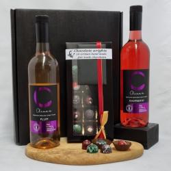 2 Bottles of Fruit Wine and 18 Bespoke Handmade Alcohol Infused Chocolates