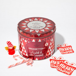 Panettone in the Tin (Salted Caramel & Chocolate) - Vegan Panettone, Christmas Cake, No Palm Oil, Made in Italy (500g)