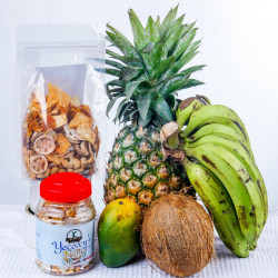 Organic Dehydrated Fruit and Nut Mix (Mangoes, Bananas, Pineapples, Cashew Nuts Coconut and Peanuts)