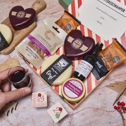 Festive Cheese & Port Letter Box Hamper