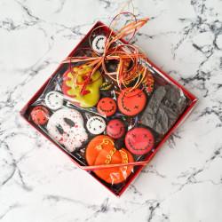 Halloween Cookies Gift Box, 13 Mini Halloween Biscuits