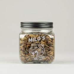 Glass Tiger Cat Treat Jar