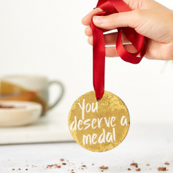 'You Deserve A Medal' Chocolate Gold Medal