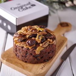Festive Spiced Rum, Date and Caramel Cake