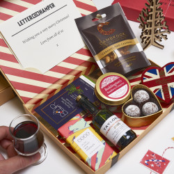 Luxury Christmas Letter Box Hamper with vintage port
