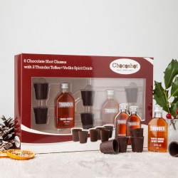 Chocoshot Chocolate Shot Glasses & Toffee Vodka Gift Pack