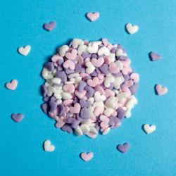 Valentines Pastel Confetti Love Hearts Cake Sprinkles