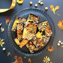 Mocha Floral Brownies