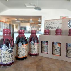 Kentish Fruit Vinegar Gift Set - Raspberry, Damson and Spiced Apple Balsamic Selection 3 x 250ml