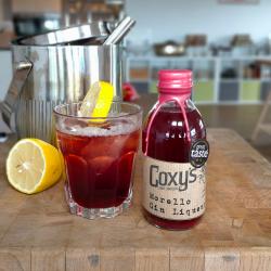 Coxy's Morello Gin Liqueur hero