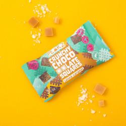 Vegan Salted Caramel Crunchy Chocolate Squares (10 Bag Case)