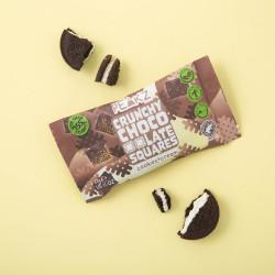 Vegan Cookies & Cream Chocolate Crunchy Squares (10 Bag Case)