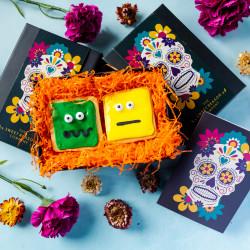 'Halloween Skull' Luxury Monsters Biscuit Gift