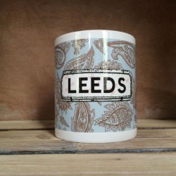 Blue Paisley Personalised Mug