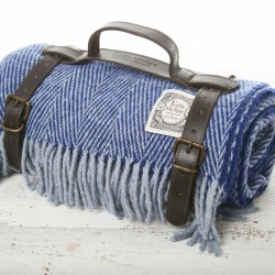 Luxury Wool Picnic Rug - Royal Navy
