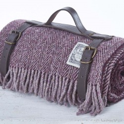 Luxury Wool Picnic Rug - Autumn Plum
