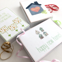 New Home Greeting Card Letterbox Cake