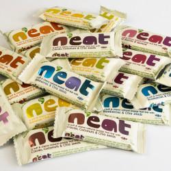 N'eat Mixed Rainbow Taster box of Natural Energy Fruit Bars (16x45g)