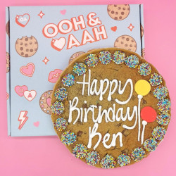 Happy Birthday Giant Chocolate Chip Cookie - Blue