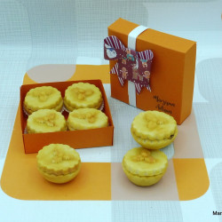 Christmas Marzipan Chocolate Filled Mince Pies box of 4