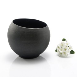 Small Black Ceramic Cup