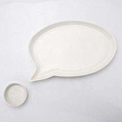 Bespoke Porcelain Speech Bubble Plate