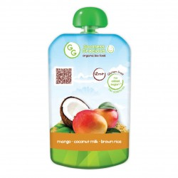 Organic Mango, Coconut Milk & Brown Rice Puree (8 packs)