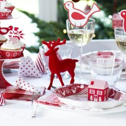Red Reindeer Christmas Table Decoration