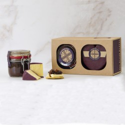 Heart-Shaped Cheese & Chutney Gift Set