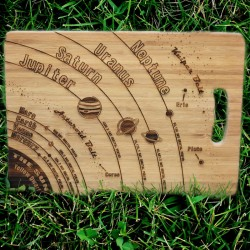 Solar System Engraved Chopping Board