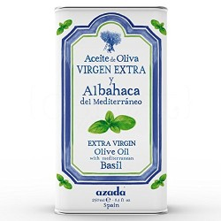 AZADA BASIL FLAVOURED EXTRA VIRGIN OLIVE OIL 250ML